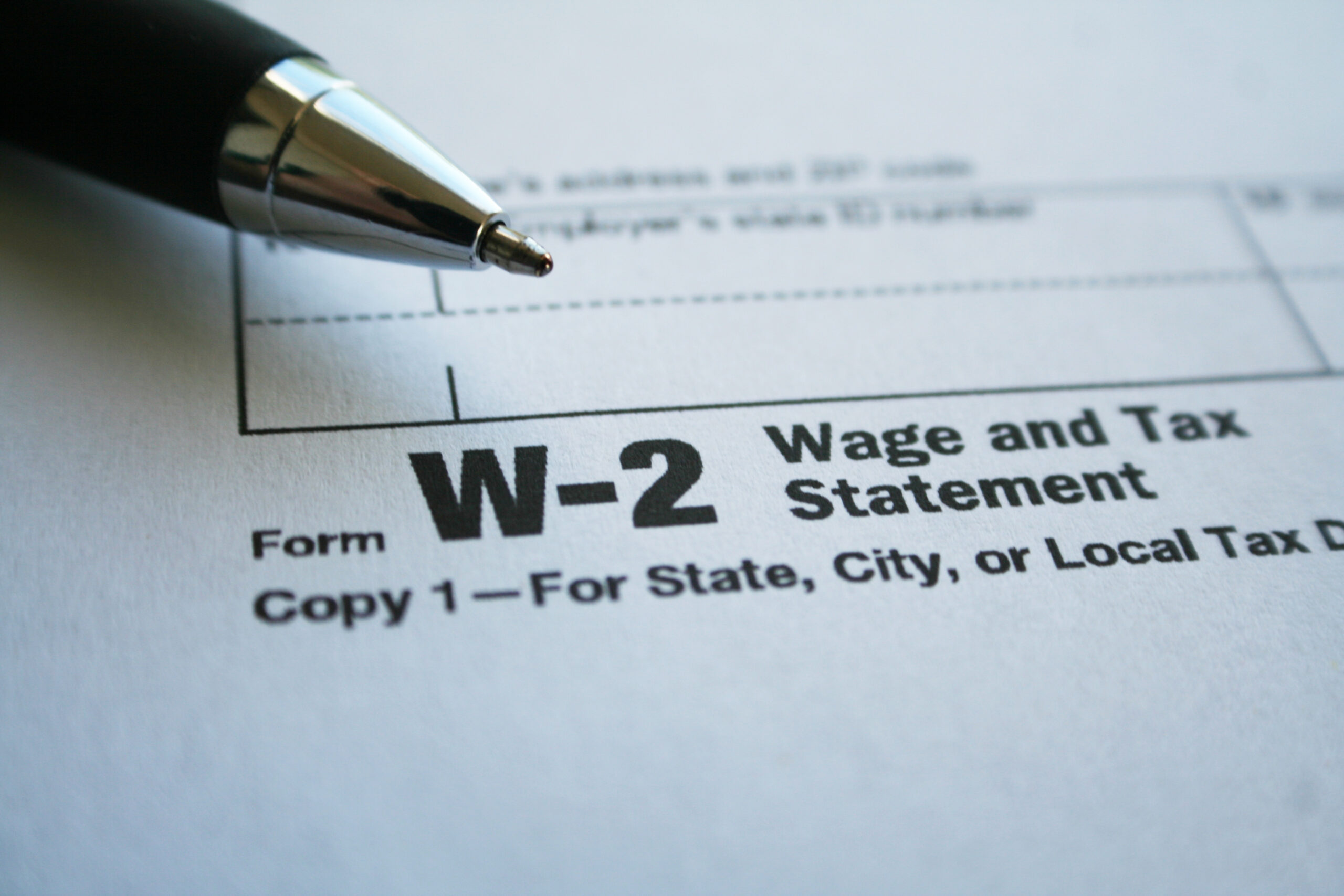 W-2 Employees Income Proof